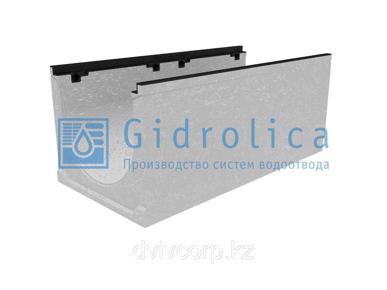 Лоток водоотводный бетонный коробчатый (СО-400мм), с чугунной насадкой КU 100.49,9 (40).42(35) - BGZ-S, № 5-0