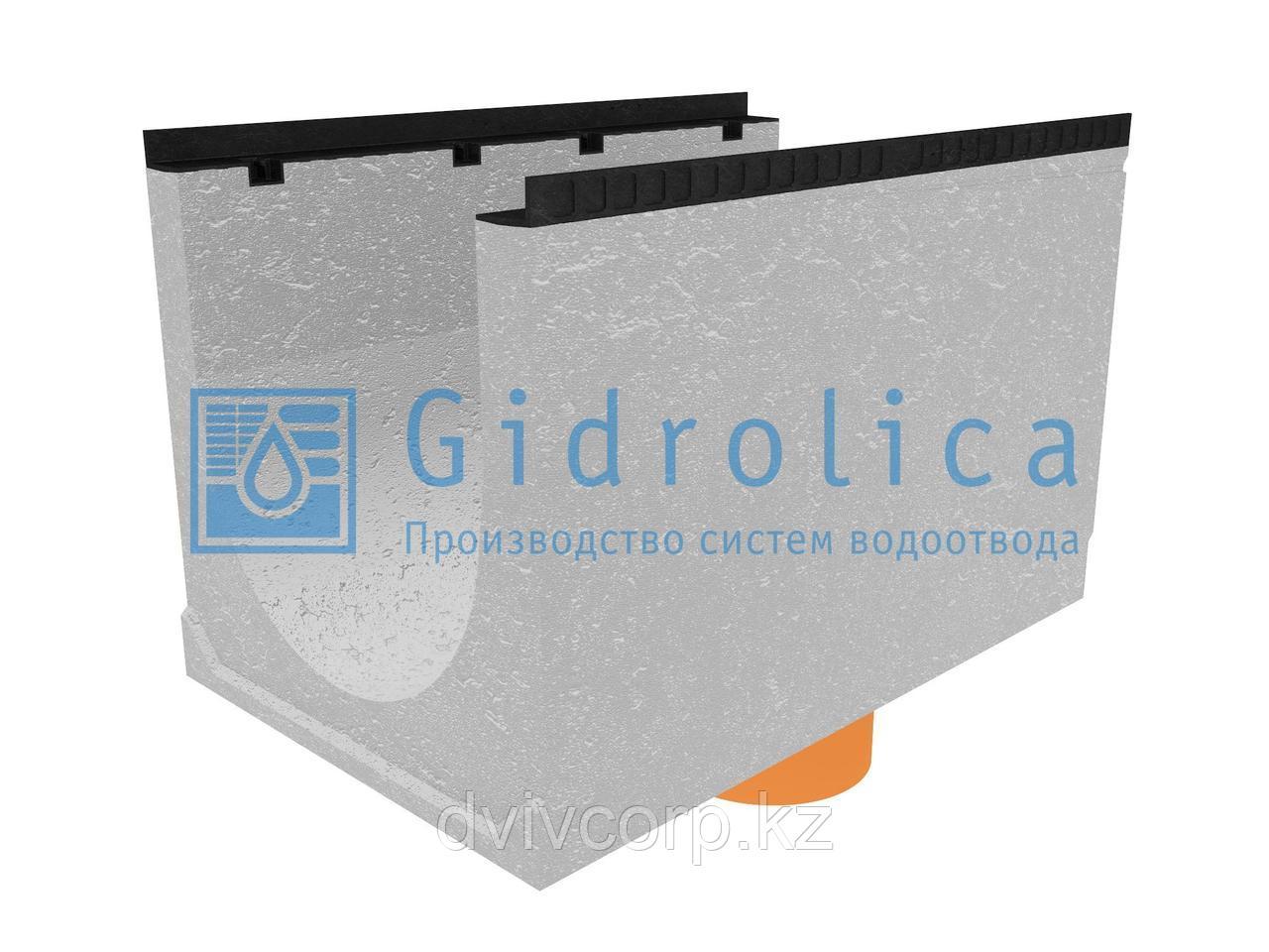 Лоток водоотводный бетонный коробчатый (СО-500мм), с водосливом КUв 100.65(50).65(56) - BGМ, № 40-0