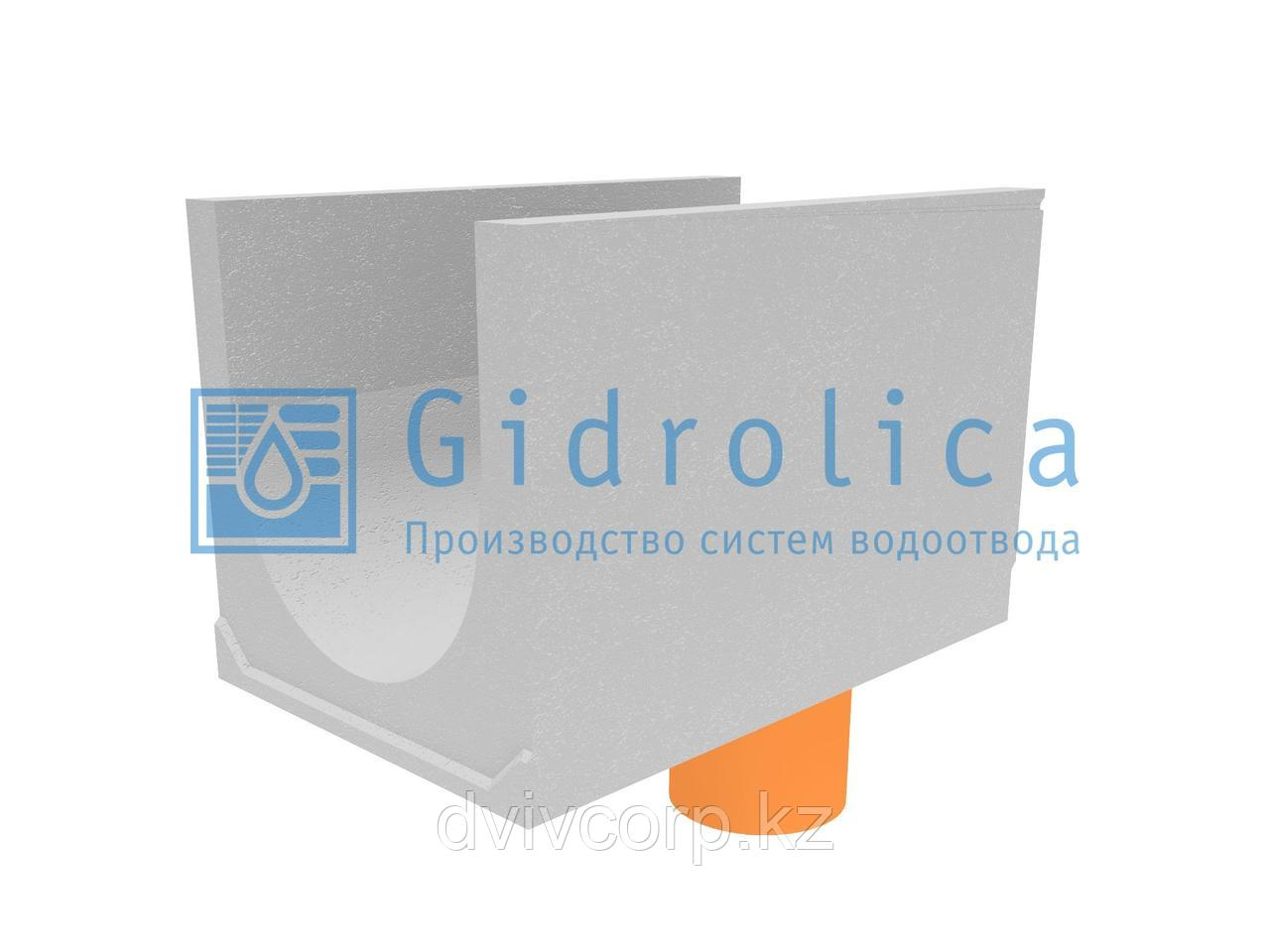 Лоток водоотводный бетонный коробчатый (СО-500мм), с водосливом КUв 100.65(50).65(56) - BGU-XL, № 40-0