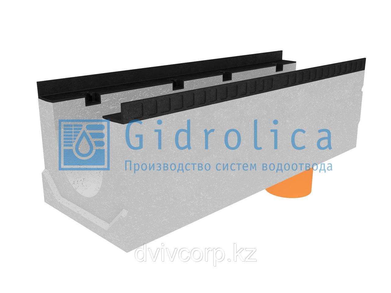 Лоток водоотводный бетонный коробчатый (СО-200мм), с водосливом КUв 100.34(20).31(24) - BGМ, № 0