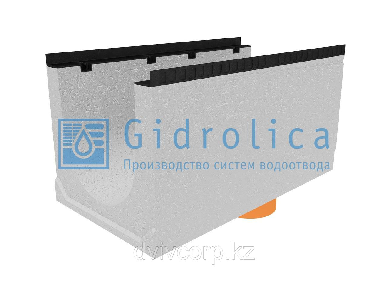 Лоток водоотводный бетонный коробчатый (СО-400мм), с водосливом КUв 100.54(40).52,5(44,5) - BGМ, № 15-0