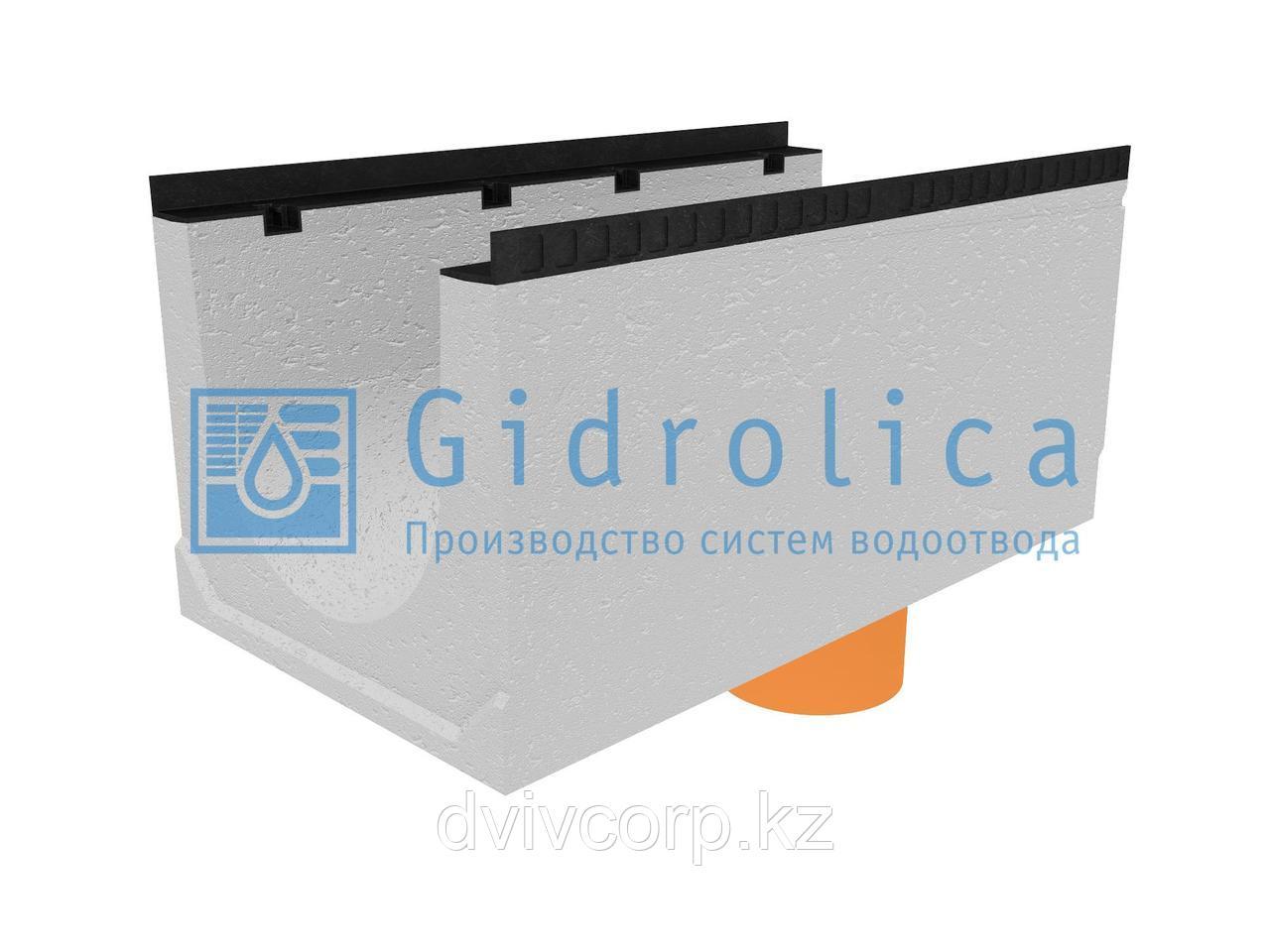 Лоток водоотводный бетонный коробчатый (СО-400мм), с водосливом КUв 100.54(40).47,5(39,5) - BGМ, № 5-0