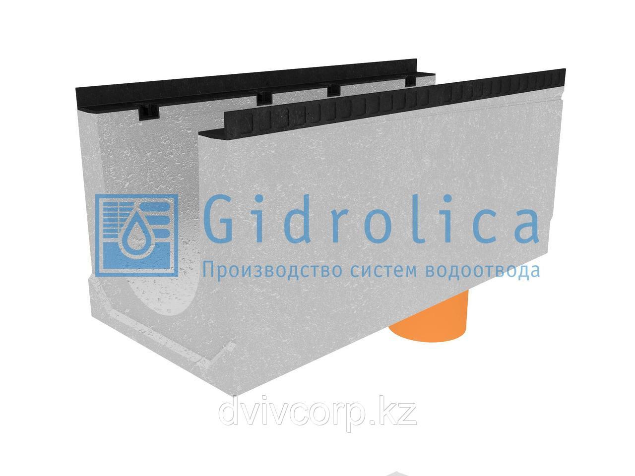 Лоток водоотводный бетонный коробчатый (СО-300мм), с водосливом КUв 100.44(30).45(38) - BGМ, № 0
