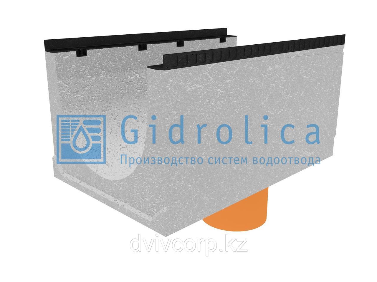 Лоток водоотводный бетонный коробчатый (СО-500мм), с водосливом КUв 100.65(50).52,5(43,5) - BGМ, № 15-0