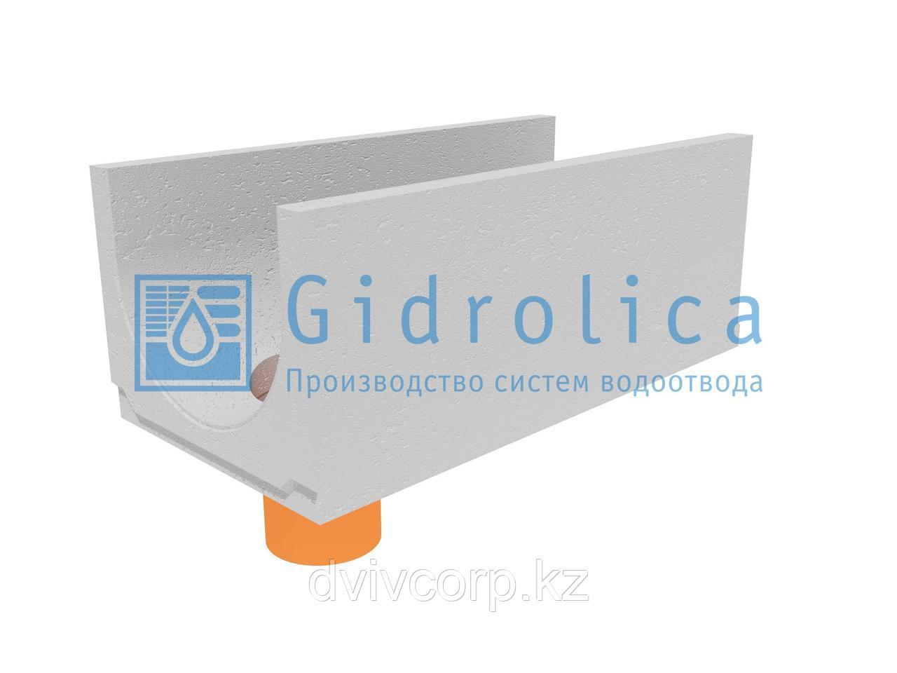 Лоток водоотводный бетонный коробчатый (СО-400мм), с водосливом КUв 100.49,4(40).39,5(32,5) - BGU, № 0