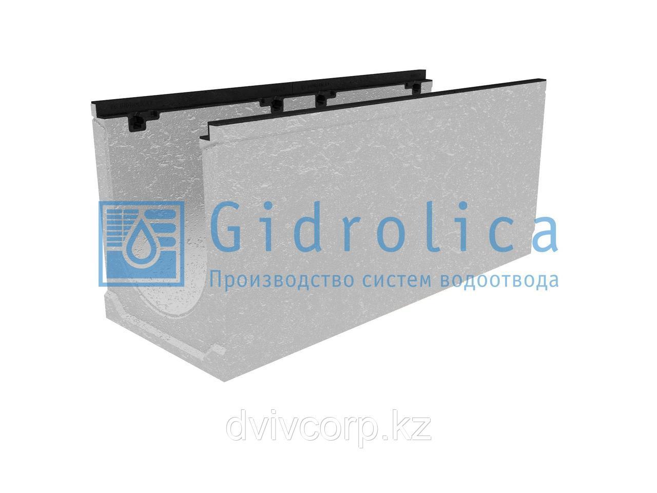 Лоток водоотводный бетонный коробчатый (СО-300мм), с чугунной насадкой  КU 100.39,9 (30).44,5(37,5) - BGZ-S, №