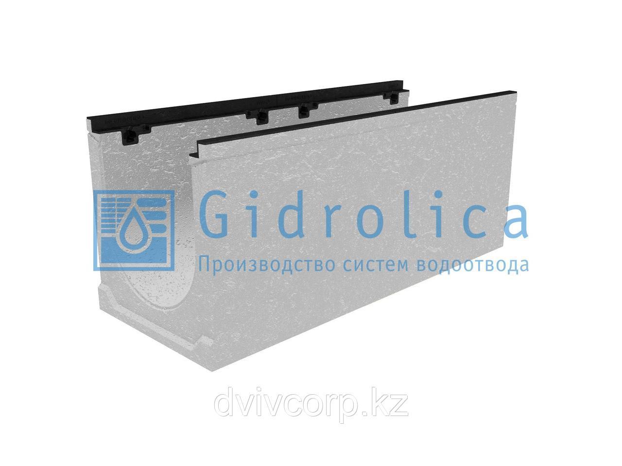 Лоток водоотводный бетонный коробчатый (СО-300мм), с чугунной насадкой КU 100.39,9 (30).42(35) - BGZ-S, № 5-0