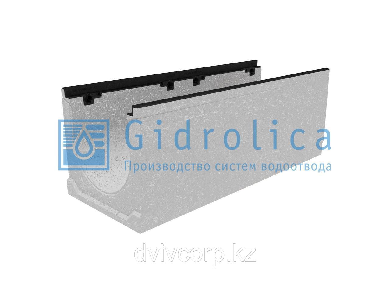 Лоток водоотводный бетонный коробчатый (СО-300мм), с чугунной насадкой  КU 100.39,9 (30).37(30) - BGZ-S, №