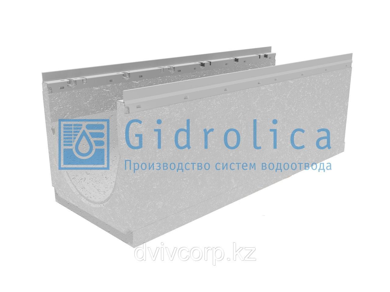 Лоток водоотводный бетонный коробчатый (СО-300мм), с оцинкованной насадкой КU 100.36,3(30).37(30,5) - BGU-Z, №