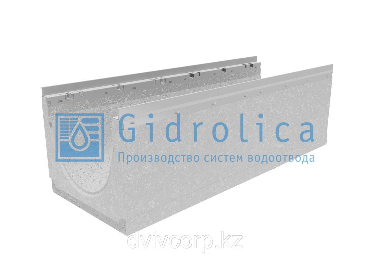 Лоток водоотводный бетонный коробчатый (СО-300мм), с оцинкованной насадкой КU 100.36,3(30).32(25,5) - BGU-Z, №