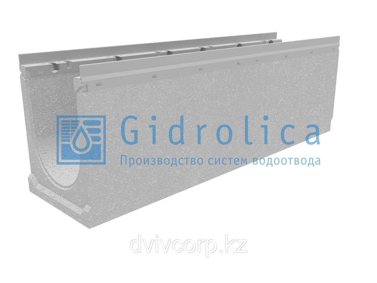 Лоток водоотводный бетонный коробчатый (СО-200мм), с оцинкованной насадкой КU 100.26,3 (20).33(27,5) - BGU-Z,