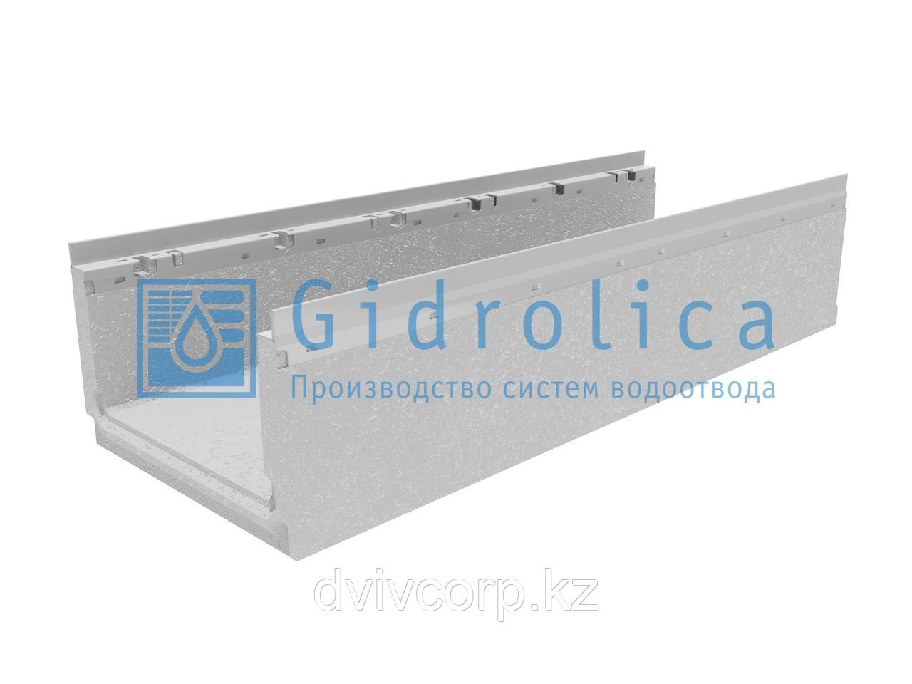 Лоток водоотводный бетонный коробчатый (СО-300мм) с оцинкованной насадкой КП 100.36,3 (30).22,5(18) - BGF-Z, №