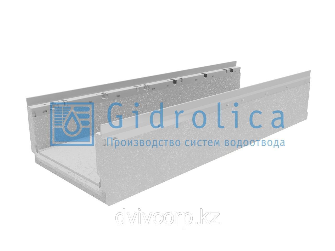 Лоток водоотводный бетонный коробчатый (СО-300мм) с оцинкованной насадкой КП 100.36,3 (30).20(15,5) - BGF-Z,