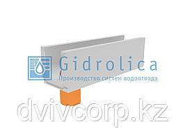 Лоток водоотводный бетонный коробчатый (СО-200мм), с водосливом КUв 100.29,8(20).29,5(22,5)-BGU, № 0