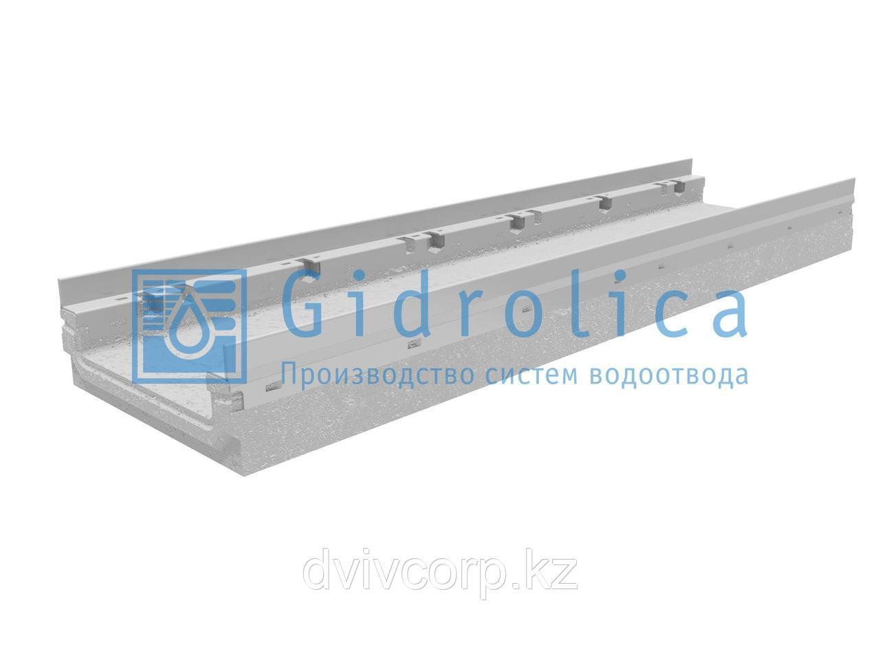 Лоток водоотводный бетонный коробчатый (СО-200мм), с оцинкованной насадкой, КП 100.26,3(20).10(6,5) - BGF-Z