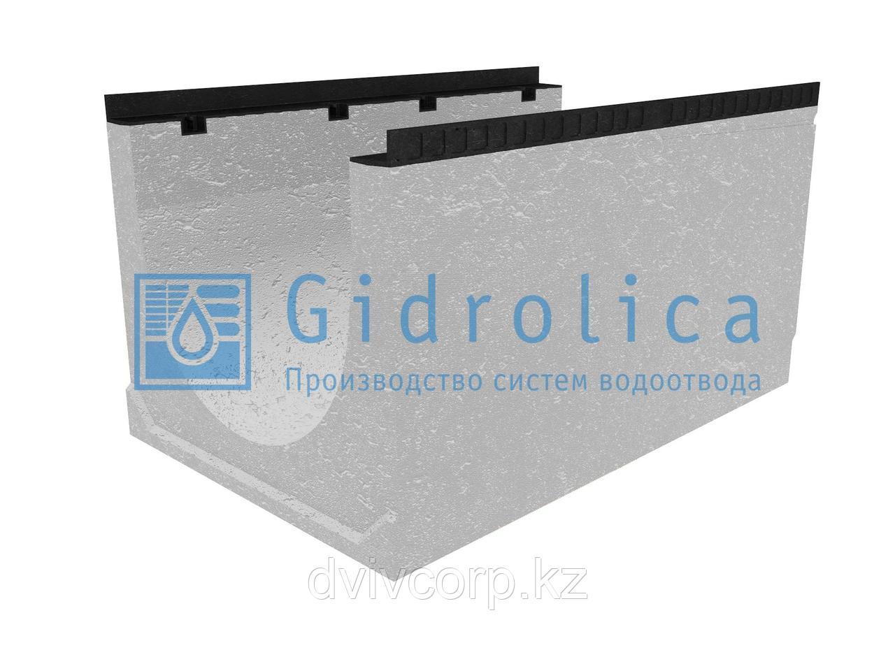 Лоток водоотводный бетонный коробчатый (СО-500мм), с уклоном 0,5%  КUу 100.65(50).57(48) - BGМ, № 24