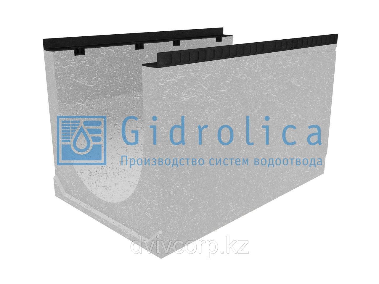 Лоток водоотводный бетонный коробчатый (СО-500мм), с уклоном 0,5%  КUу 100.65(50).64,5(55,5) - BGМ, № 39