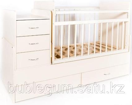 Кровать-трансформер детская Bambini M 01.10.01 Слоновая кость ЛДСП