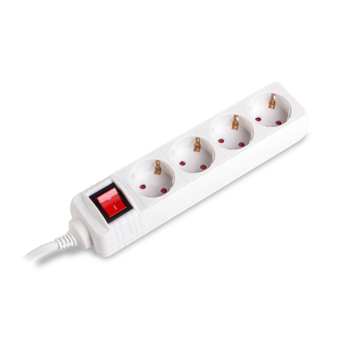 Удлинитель iPower L4S10m 4 розетки 10 м. 220-240V 10A Белый
