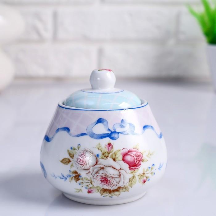 Сахарница «Цветы», 10х х10х х10 см, керамика