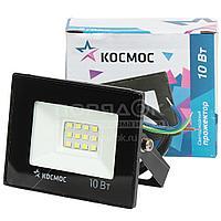 Прожектор светодиодный Космос Super-Slim K_PR5_LED_10, 10 Вт, 6500 К, IP65, 800 Лм холодный белый свет