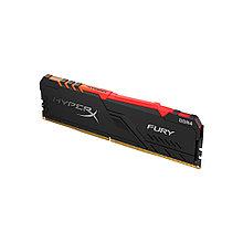 Kingston HX426C16FB3A/8 HyperX Fury Модуль памяти DDR4, 8GB, DIMM <PC4-21300/2666MHz>, Чёрный