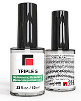 «TRIPLE 5». 5 в 1. Укрепитель, базовое и верхнее покрытие. 10 мл. Milv