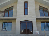 Монтаж фасада травертином. Фасадные работы, монтаж фасада, фото 2