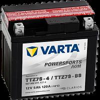Аккумулятор Varta Powersports AGM YTZ7S-BS 5Ah 120A 113х70х105