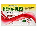 Hema-Plex, Nature's Plus, , 30 таблеток с длительным высвобождением