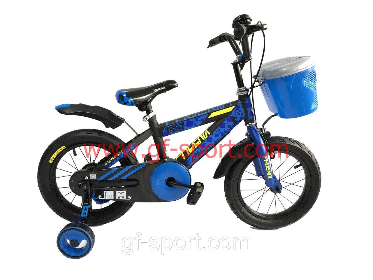 Велосипед Phoenix алюминиевый сплав оригинал детский с холостым ходом 14 размер