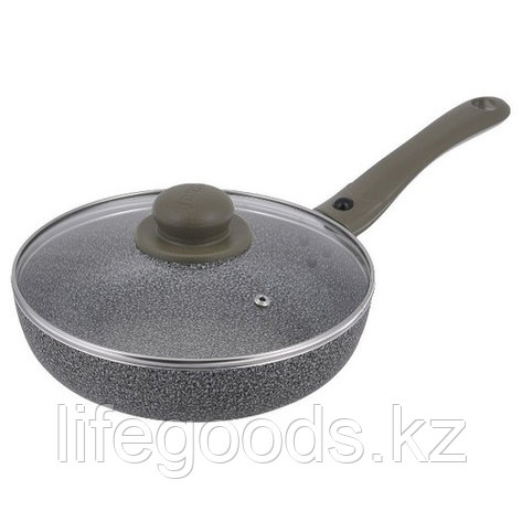 Сковорода JARKO Onyx JO-124-21 24 см с крышкой, фото 2