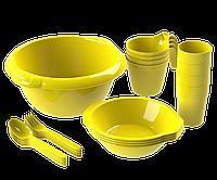 Набор посуды для пикника №1 «Праздничный» (4 персоны, 21 предмет) АП 172