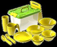 Набор посуды для пикника №5 «Весёлая компания» (4 персоны, 36 предметов) АП 181