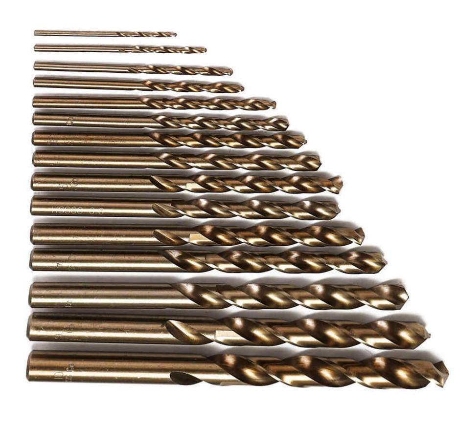 Сверла по металлу кобальтовые HSS-Cobalt DIN-338, от 2 до 18 мм