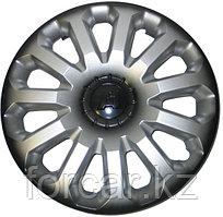 Колпак колесный LION А-1 14 серебристый-черный (4 шт.)