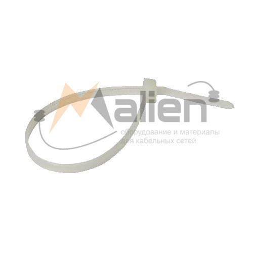 Стяжки нейлоновые СТН-Б 4x250 мм (белые), 100 шт. МАЛИЕН арт. 870211