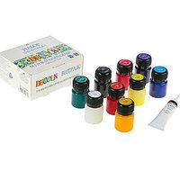Набор витражных красок по стеклу Decola, 9 цветов, 20 мл + контур