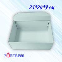 Коробка крышка+дно 25*20*9см белая