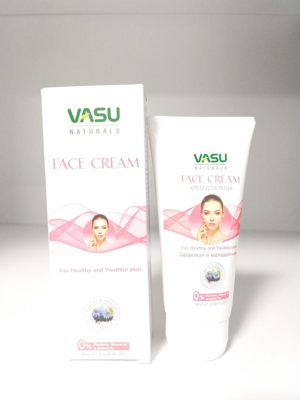 """Крем для лица """"Здоровая и молодая кожа"""" , 60 мл, Vasu"""