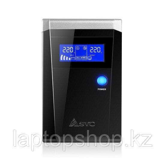 Источник бесперебойного питания SVC V-1500-F-LCD, Smart, USB, Мощность 1500ВА/900Вт