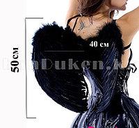 Крылья ангела черные складные объемные (размер L 50*40 см)