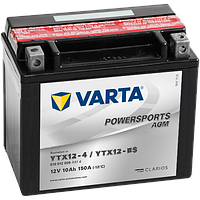 Аккумулятор Varta Powersports AGM YTX12-BS 10Ah 150A 150x87x131