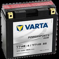 Аккумулятор Varta Powersports AGM YT14B-BS 13Ah 190A 152x70x150