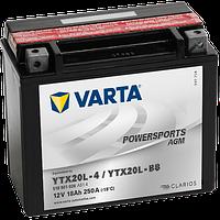 Аккумулятор Varta Powersports AGM YTX20L-BS 18Ah 260A 177x87x156