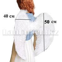 Крылья ангела белые складные объемные (размер L 50*40 см)