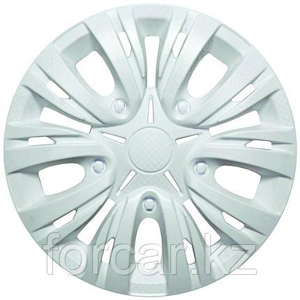 Колпак колесный LION Лион 14 белый глянец (4 шт.), фото 2