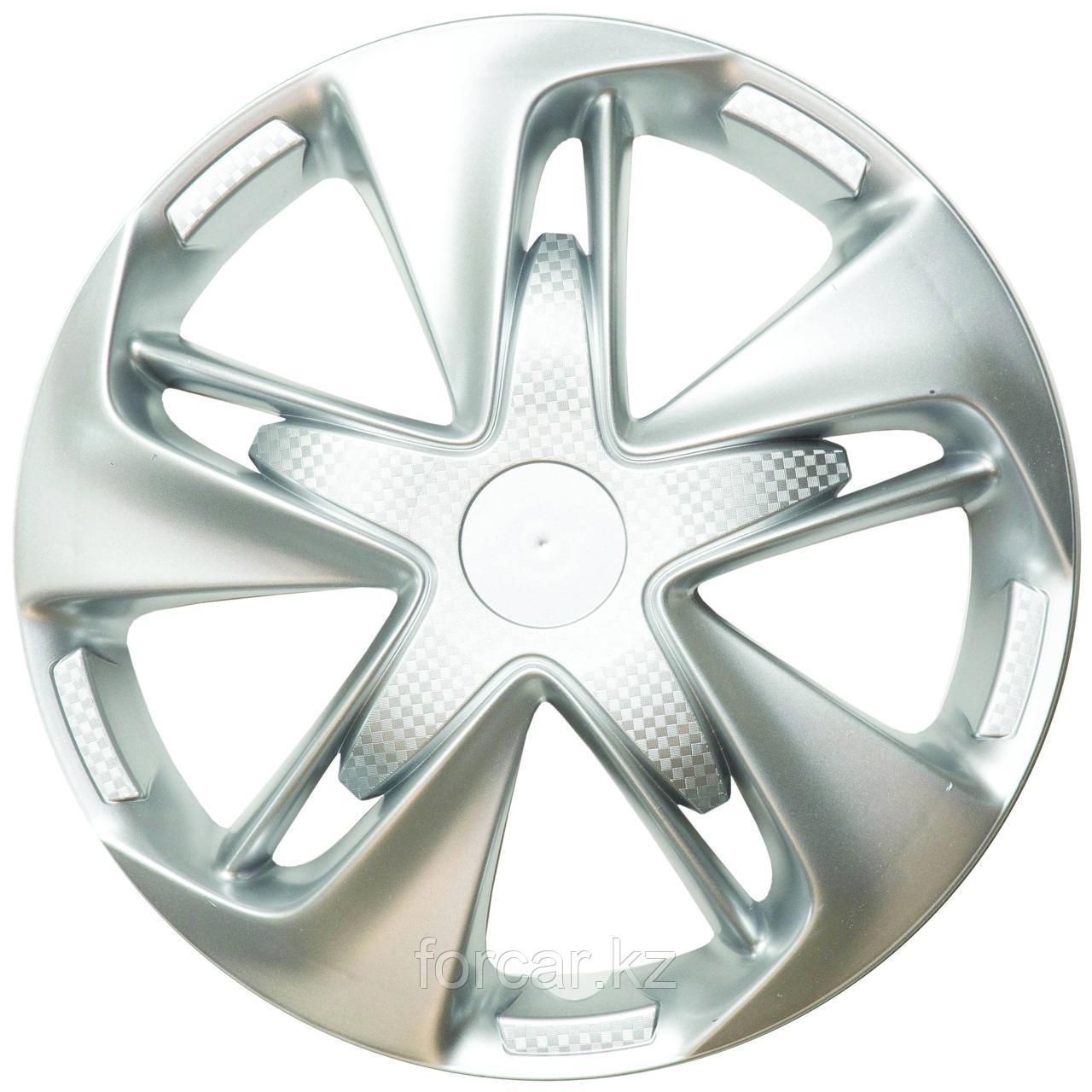 Колпак колесный LION Супер Астра 14 серебристый  карбон (4 шт.)