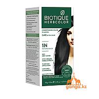 Черная Краска для волос Биотик с 9 травами (BIOTIQUE HERBCOLOR) 50 г + 110 мл