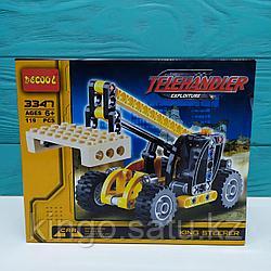 Конструктор Decool 3347 Telehandler/Телескопический погрузчик 2в1 (аналог Lego Technic 8045)